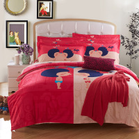 100% polyester fabric rewing bedsheet cut 480cm,3d effect bedding set,american style cotton bed sheet set