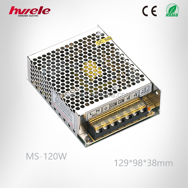 MS-120W MINI Switch mode power supply with SGS,CE,ROHS,TUV,KC,CCC certification