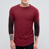 Alibaba Express China Red Color Dress Boys New Design T Shirt Plain Round Neck Slim Fit Men's T-Shirt