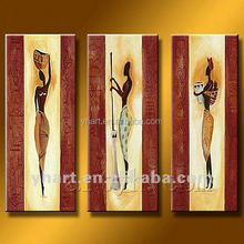 Hot Sell Handmade Abstract Africa Beautiful Girl Oil Painting