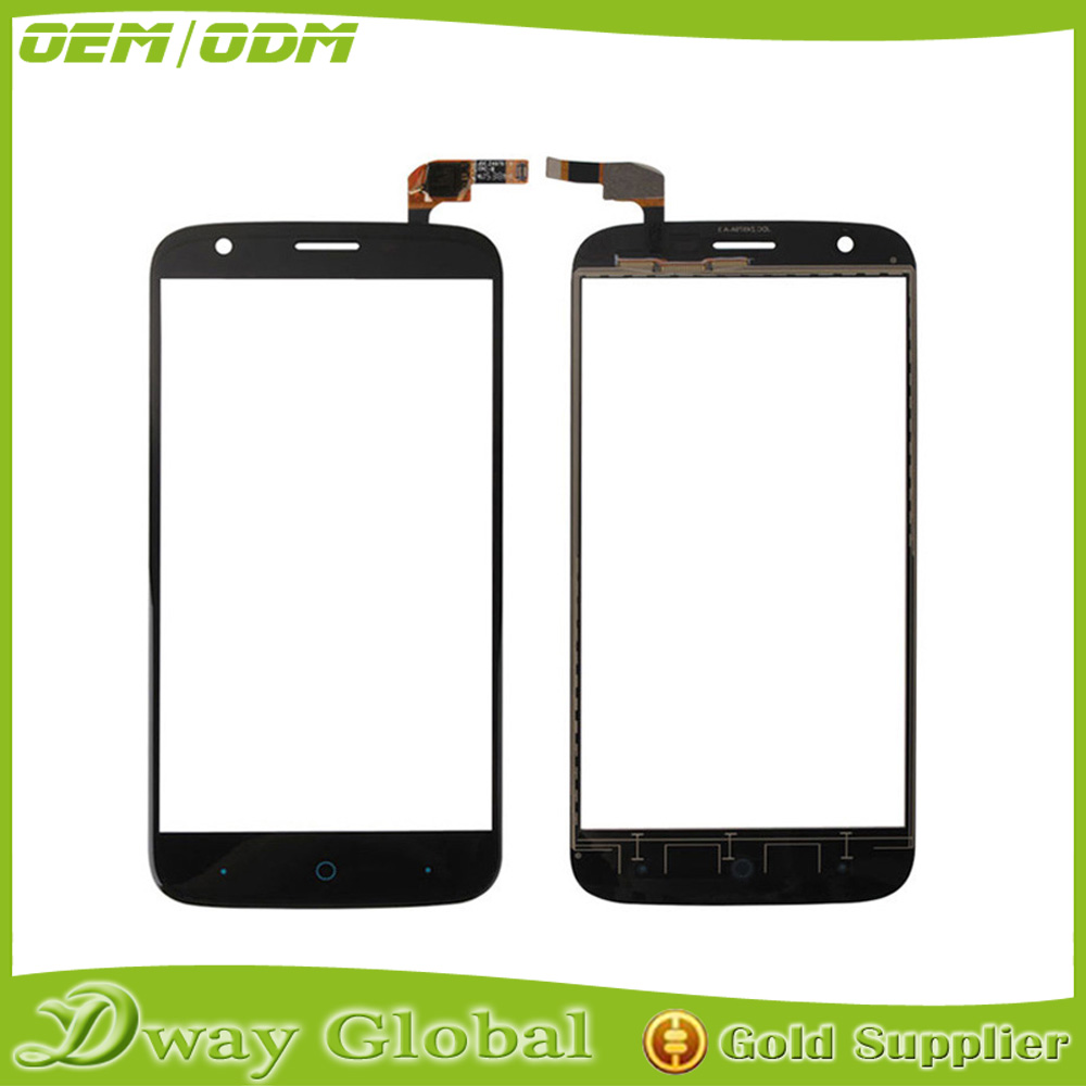 Wholesale New Black Glass Panel Touch For ZTE Blade L5 Touch Screen Digitizer and touch panel glass screen with free shipping