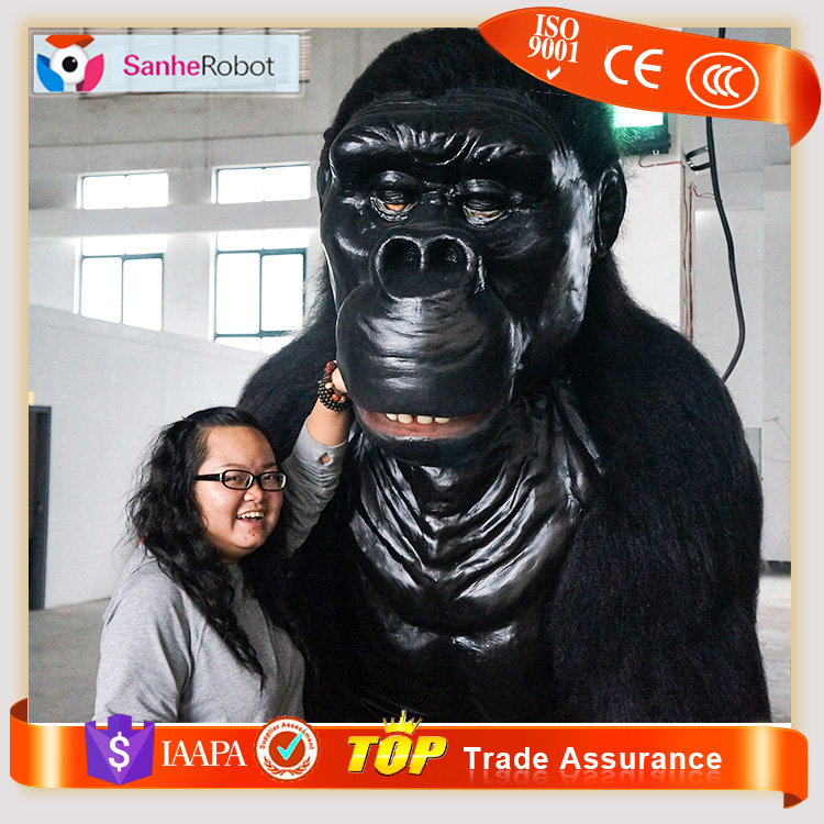 Alibaba Promotion H=2.6m Cutie Outdoor Gorilla Playground Decoration Animated Animal -Kingkong