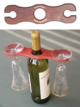 clear acrylic wine display stand set with goblet