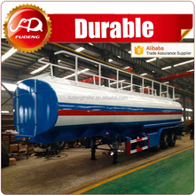 Customized fuel tanker for gas and nitrogen transportation trailer truck
