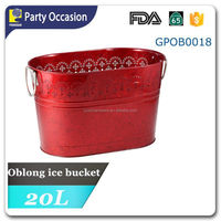 Galvanized oblong Champagne Bucket GPOB0018