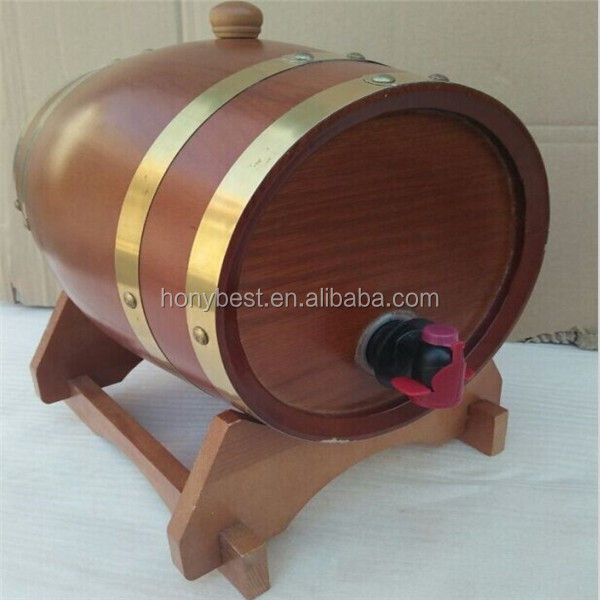 Cheap Different Size and Color Wood Beer Barrels,Wine Kegs with Stand For Sale