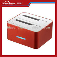 OTB Clone Dual bay usb2.0 sata hdd docking station