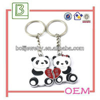 3D lovers panda shape couple keychain for gifts&souvenirs