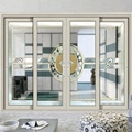 New design double glazed aluminum glass door 2 3 track doors