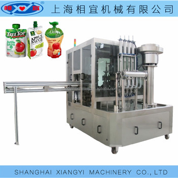 ketchup spout pouch filling capping machine