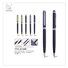 New design novelty capacitive touch screen metal stylus pen