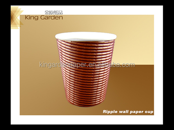 triple wall hot cups with cover