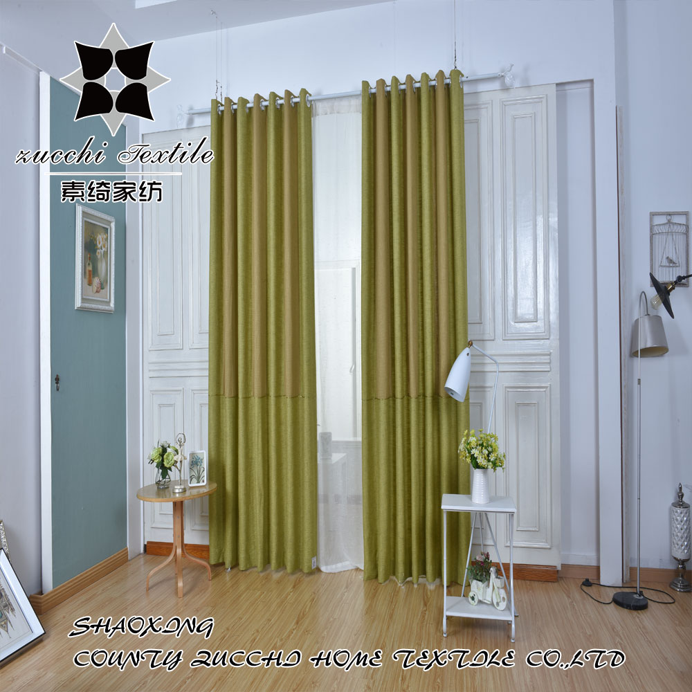 2017 Chinese Panel Manufacturer New Style Linen Yarn Dyed Curtains From KeQiao