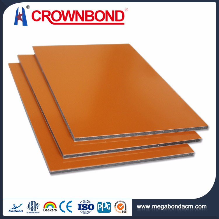 Crownbond CE Certificate Flexible Price Aluminum ACP/ACM fire rated composite panel