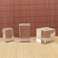 Clear blank crystal plaque engraving crystal cube