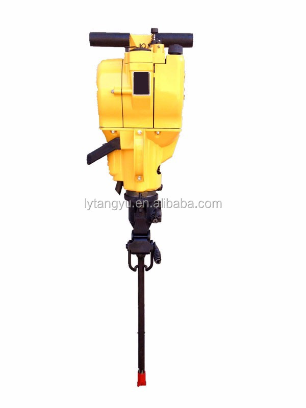 YN27C Gasoline/Petrol Power rock drill breaker/portable Internal Combustion rock drill jack hammer