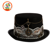 Vintage Victorian Gears Party Cosplay Steampunk Hat