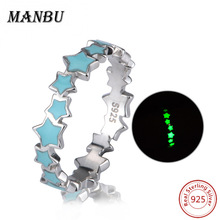 925 sterling silver luminous star eternity ring jewelry JR2554-P