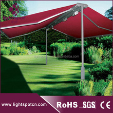 Auto waterproof canvas double-sided freestanding retractable awning
