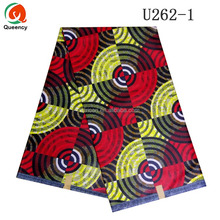 U262 Queency Nigerian Party Dress Cotton Fabric African Wax Prints Ghana