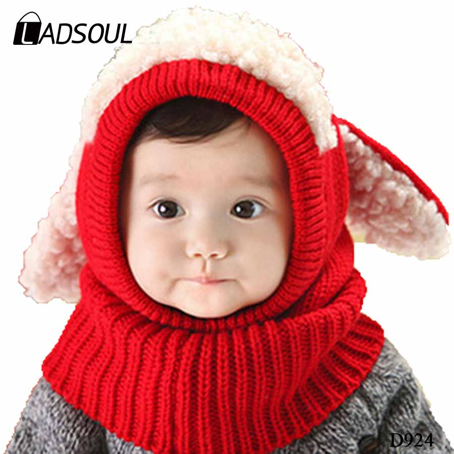 New Fashion Korean Cute Little Dog Keep Warm Ear Round Neck Hat Factory Direct Sales baby scarf