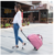JUNYUAN Fashion Pull Rod Waterproof Travel Bag Trolley Travel Bag
