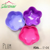 Vibrant Colors Silicone Plum Baking Cups