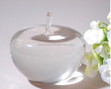 Porcelain Wedding Return Gift Clear Crystal Glass Apple with Custom Size