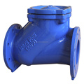 Ball type check valve with flange or screwed