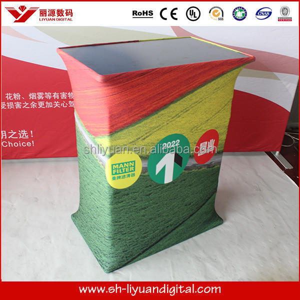 Easy to carry foldable trade show display table/counter/stand with custom graphics printing