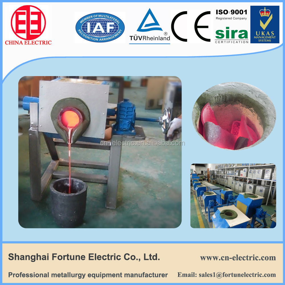Fast Speed Induction Heating Machine Gold/Silver/Copper/Brass Melting Furnace