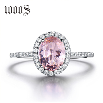 925 Sterling Silver Ring Oval Classic Pink Morganite Rings For Women Engagement Gemstone Wedding Band Fine Jewelry Gift