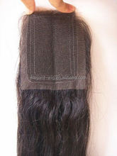 Elegant-wig middle part virgin human hair pieces, lace closures with clear side parting natrual hairline