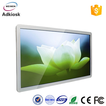 55 inch all in one wall mounted touch screen kiosk for advertising display