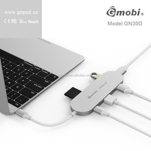 Type-C To USB 3.0 Multiport Adapter For Macbook 12' USB Hub For Macbook Pro Type C Adapter High Speed 6 in 1 USB Hub 3.0