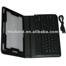 Bluetooth Keyboard leather case cover for Blackberry Playbook