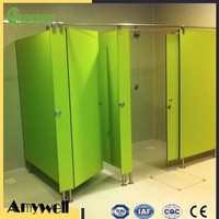 Amywell Top sale duarble customized waterproof HPL shower cubicle for gym