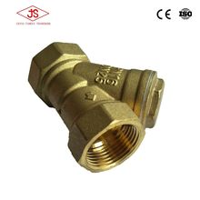 Brass filter Y type strainer valve price list from china