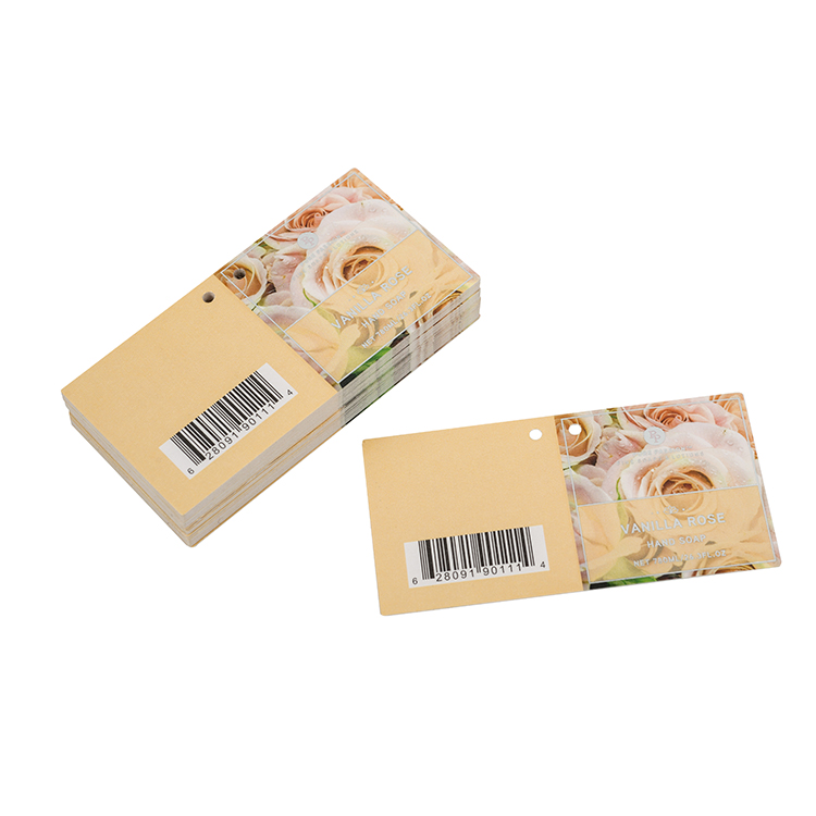 Professional suppliers design printing luxury clothes hang tag