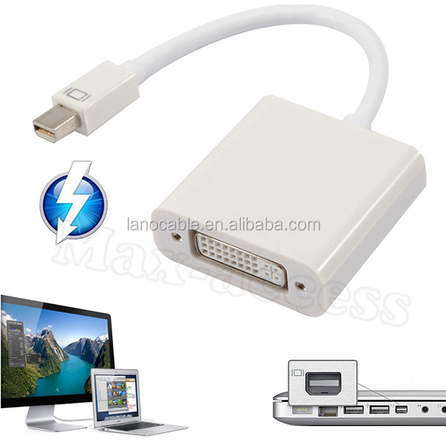 10cm white mini dp to dvi female adapter cable
