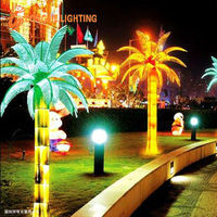 shining led palm tree lights