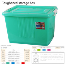 family used plastic containers with wheels and locked lids for sundries