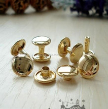 Hot!!!7mm small gold metal rivets, garment brass rivets for leather/ shoes/ clothing