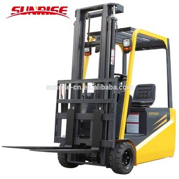 700kgs 1.5 -2.0ton narrow aisle mini small 3 wheel battery electric forklift truck