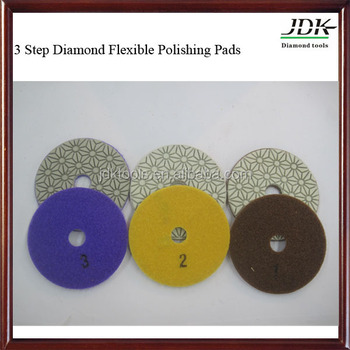 6 inch Diamond Flexible granite Polishing Pad