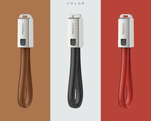 Manufacturer for Artificial Leather Keychain Data USB charging Cable for iphone mobile USB Fast Charger