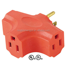 UL CUL approval triple electric outlet adapter current tap