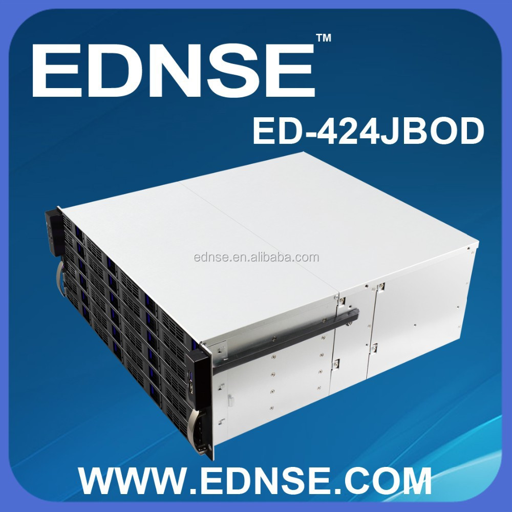 4U 24 HDD Bays Trayless JBOD Solution Chassis