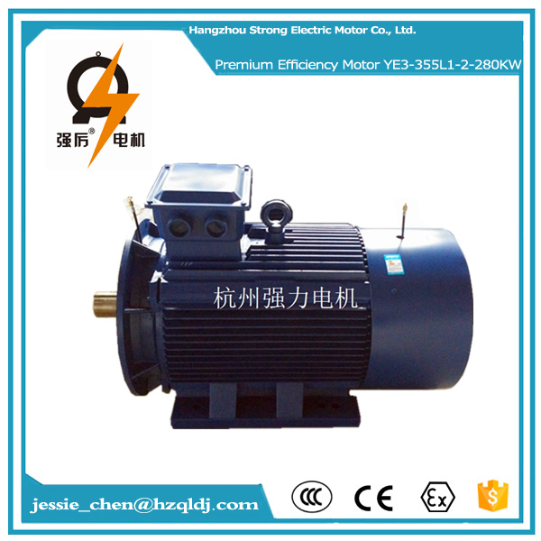380hp 280kw ac 400v 60hz IP55 squirrel cage squirrel cage three phase induction electric motor