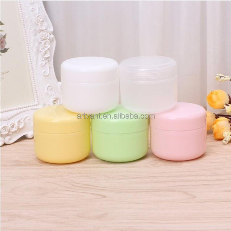 5 Colors Empty Plastic Cosmetic Jars Pots Makeup Cream Bottles Lip Balm Container 10g/20g/50g/100g